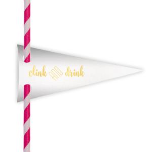 Clink & Drink Straw Tag