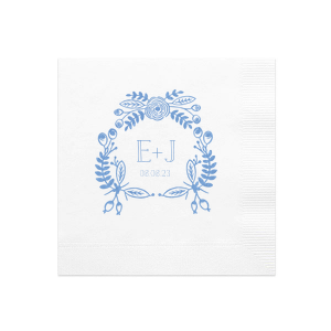 Hand Drawn Floral Crown Napkin