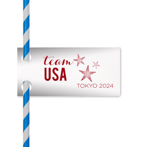 Team USA Straw Tag