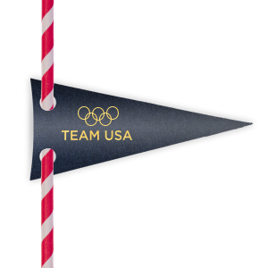 Go For Gold Straw Tag