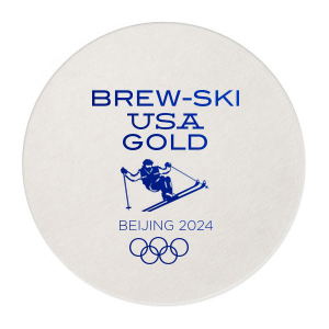 BrewSki Olympic Coaster