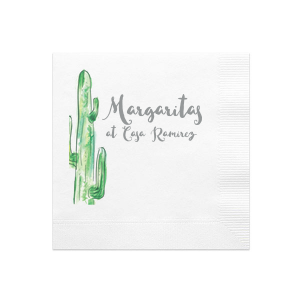 Cactus Photo/Full Color Napkin