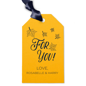 For You Leaves Gift Tag