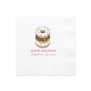 Donut Birthday Photo/Full Color Napkin