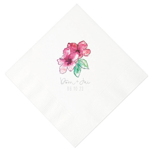 Hibiscus Flower Photo/Full Color Napkin