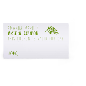 Bridal Coupon