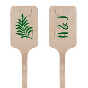 Leaf Initials Stir Stick