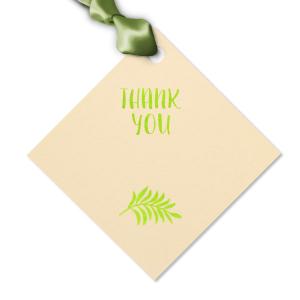 Thank You Leaf Tag
