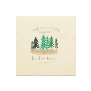 Adventure Forest Photo/Full Color Napkin