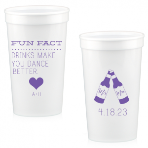 photo of Personalized 32oz Stadium Cups For Weddings