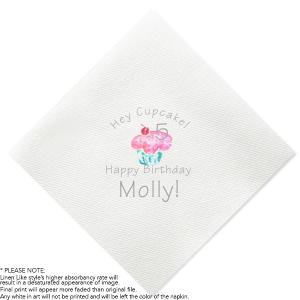 Cupcake Birthday Photo/Full Color Napkin