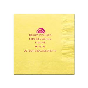 Mimosa Bachelorette Napkin