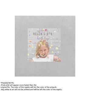Confetti Birthday Photo/Full Color Napkin