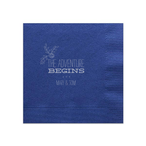 The Adventure Begins Rose Napkin
