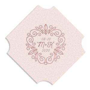 Floral Line Frame Coaster