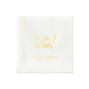 Pop the Bubbly Napkin