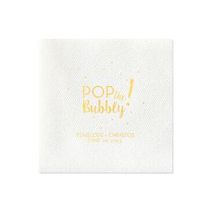 Pop the Bubbly Napkin