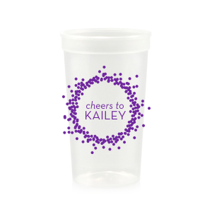 Cheers Confetti Frame Cup