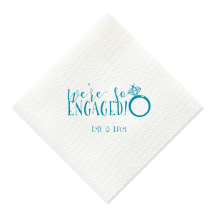 We're So Engaged Napkin