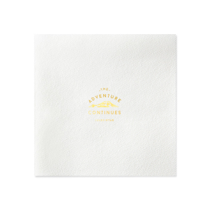 The Adventure Continues Napkin