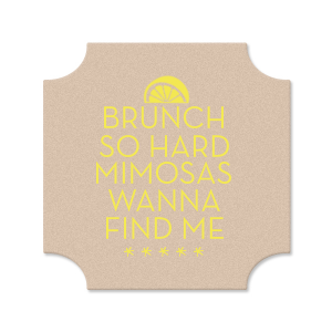 Mimosa Brunch Coaster