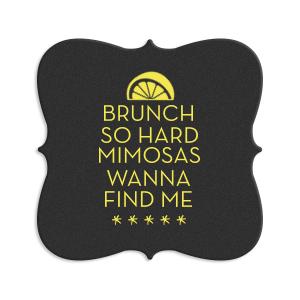 Mimosa Brunch Coaster