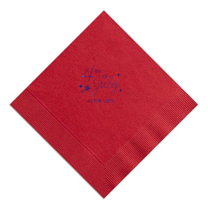 4th of July Stars Napkin
