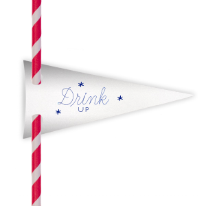 Drink Up Stars Straw Tag
