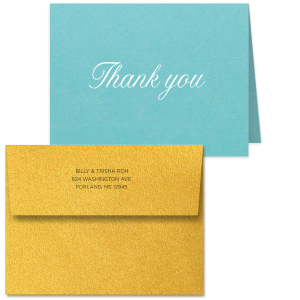 Tasteful Thank You Note Card