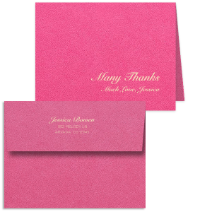 Many Thanks Note Card