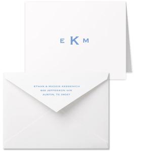 Bold Monogram Note Card