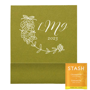 Floral Monogram Tea Favor