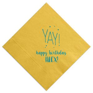 Yay Birthday Dots Napkin