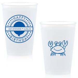 Birthday Badge Crab Cup