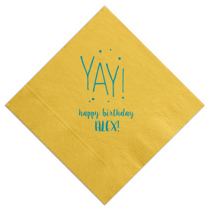 Yay Birthday Dots Napkin