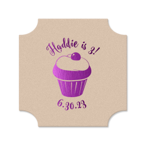 Birthday Cupcake Coaster