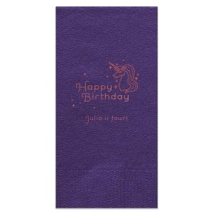 Unicorn Dots Birthday Napkin