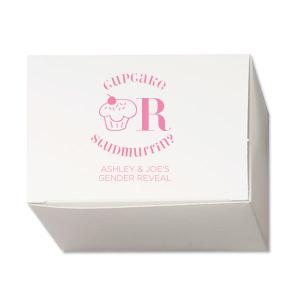 Gender Reveal Mini Cupcake Box
