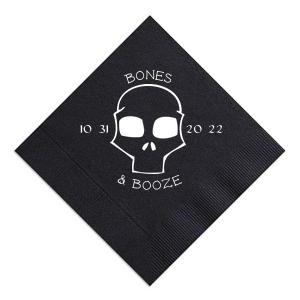 Bones and Booze Napkin