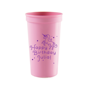 Unicorn Dots Birthday Cup