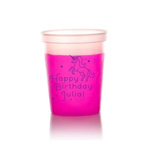 Unicorn Dots Birthday Cup
