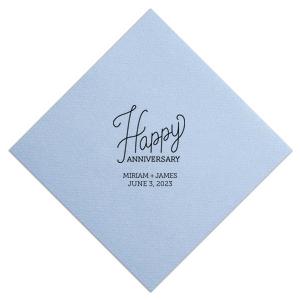 Cursive Happy Anniversary Napkin