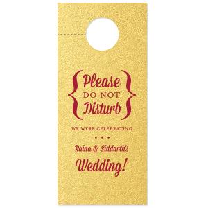 Wedding Celebration Door Hanger