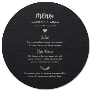 Sweetheart Menu