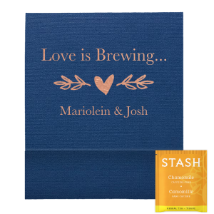 Love Is Brewing Heart Branch Tea Favor