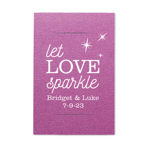 Let Love Sparkle With Stars Sparkler Sleeve