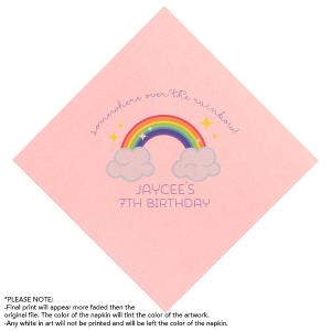 Rainbow Birthday Photo/Full Color Napkin