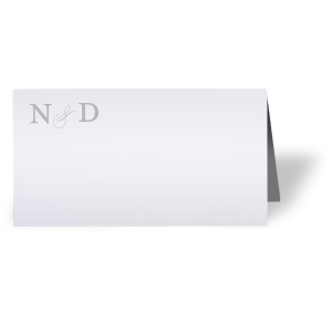 Couple's Initials Place Card