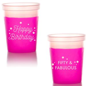 Happy Birthday Confetti Stadium Cup