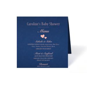 Baby Shower Heart Menu